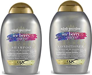 OGX Limited Edition Holiday Collection Ice Berry Queen Shampoo & Conditioner Set, 13 Ounce Parabens & Sulfate Free, All Hair Types