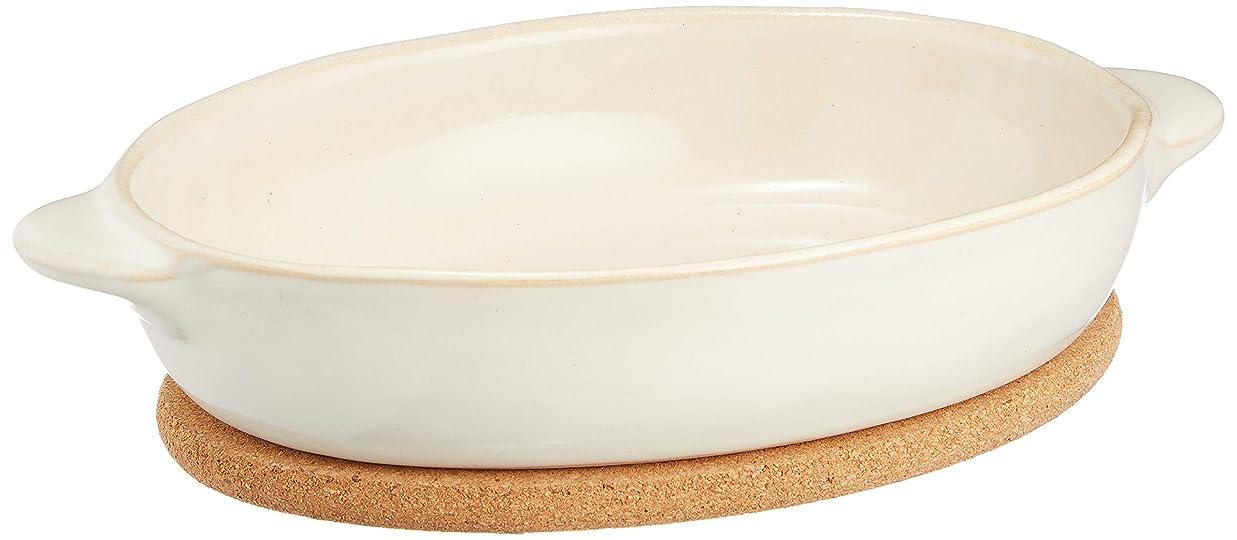 困難ヒロイン買い手KINTO (キントー) グラタン皿 ほっくり オーバルグラタン 白 23078