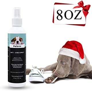 No Chew Spray Deterrent for Dogs, Anti Chew Pet Training Corrector | Non-Toxic | Alcohol Free | Made in USA - 8oz
