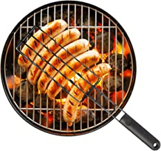 Sausage Grilling Basket - Barbecue Grill Cookout Accessories Outdoor Cooking Hot Dogs Bratwurst BBQ