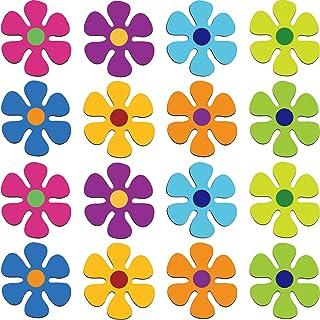 مغناطیسی یخچال گل مغناطیسی 70s چند رنگ گل مگنت گل روشن مینی یکپارچهسازی با سیستمعامل گل برش برای دیوار خانگی تخته سفید یخچال اتومبیل فلزی اتومبیل (16 قطعه)