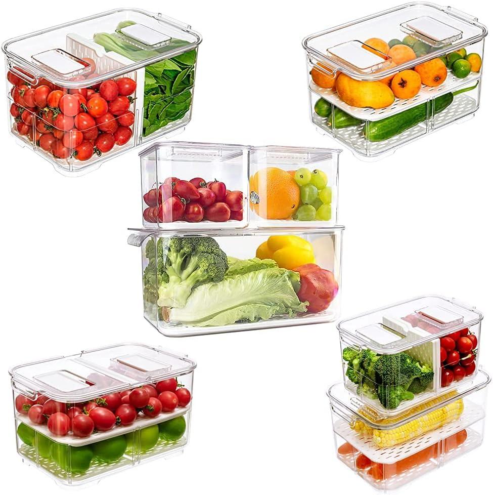 blitzlabs Produce Saver Fresh Keeper Fruit Veggie Storage Contai