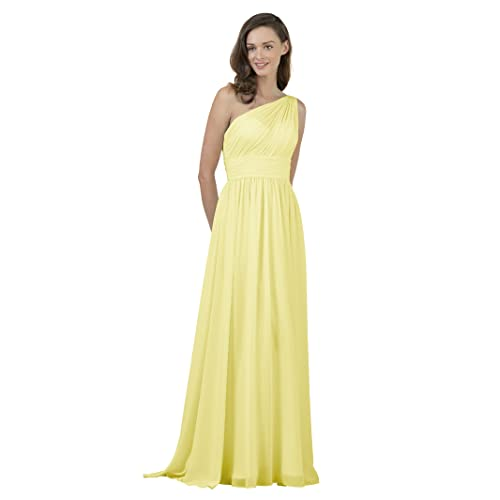 f4066b02ead2 Alicepub One Shoulder Bridesmaid Dress for Women Long Evening Party Gown  Maxi