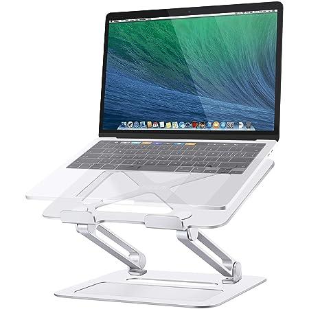 TRUNIUM ノートパソコンスタンド タブレットスタンド PCスタンド 無段階高さ/角度調整可能 滑り止め 折りたたみ式 放熱性優れ アルミ合金製 姿勢改善 腰痛/猫背解消 Macbook Air/Macbook Pro/iPad/ノートPC/液タプなど17インチまでに対応(シルバー)