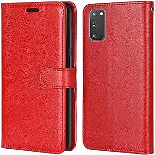Laybomo Carcasa para Samsung Galaxy S20 Tapa Funda Cuero Estilo-Sencillo Monederos Billetera Bolsa Magnética Protector Sil...