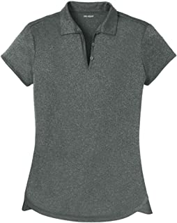 DRI-Equip Ladies Moisture Wicking Heather Golf Polos in XS-4XL