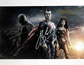 Ben Affleck/Henry Cavill/Gal Gadot 11x14 BATMAN VERSUS SUPERMAN In Person Autographed Photo