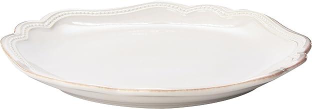 طبق مزخرف بخرز فرنسي أبيض من لينوكس، 61 جرام