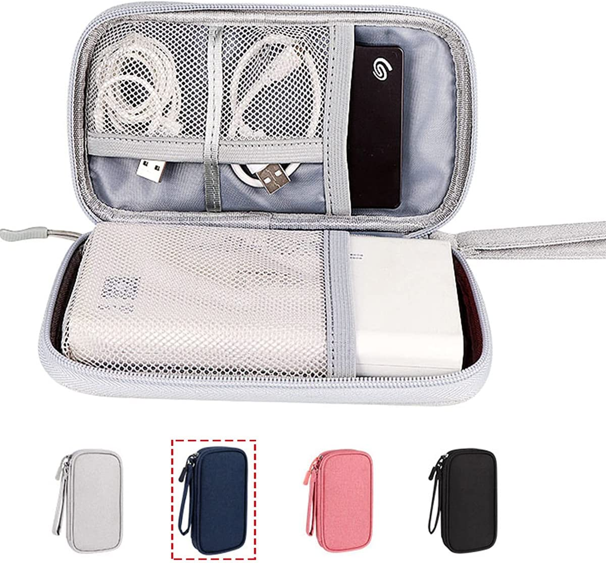 CAOODKDK Travel Universal Cable Organizer Electronics Accessories Cases, Waterproof Electronic Accessories Organizer Bag for Power Bank, Charging Cords, Chargers, Mouse, USB Cable, Earphones