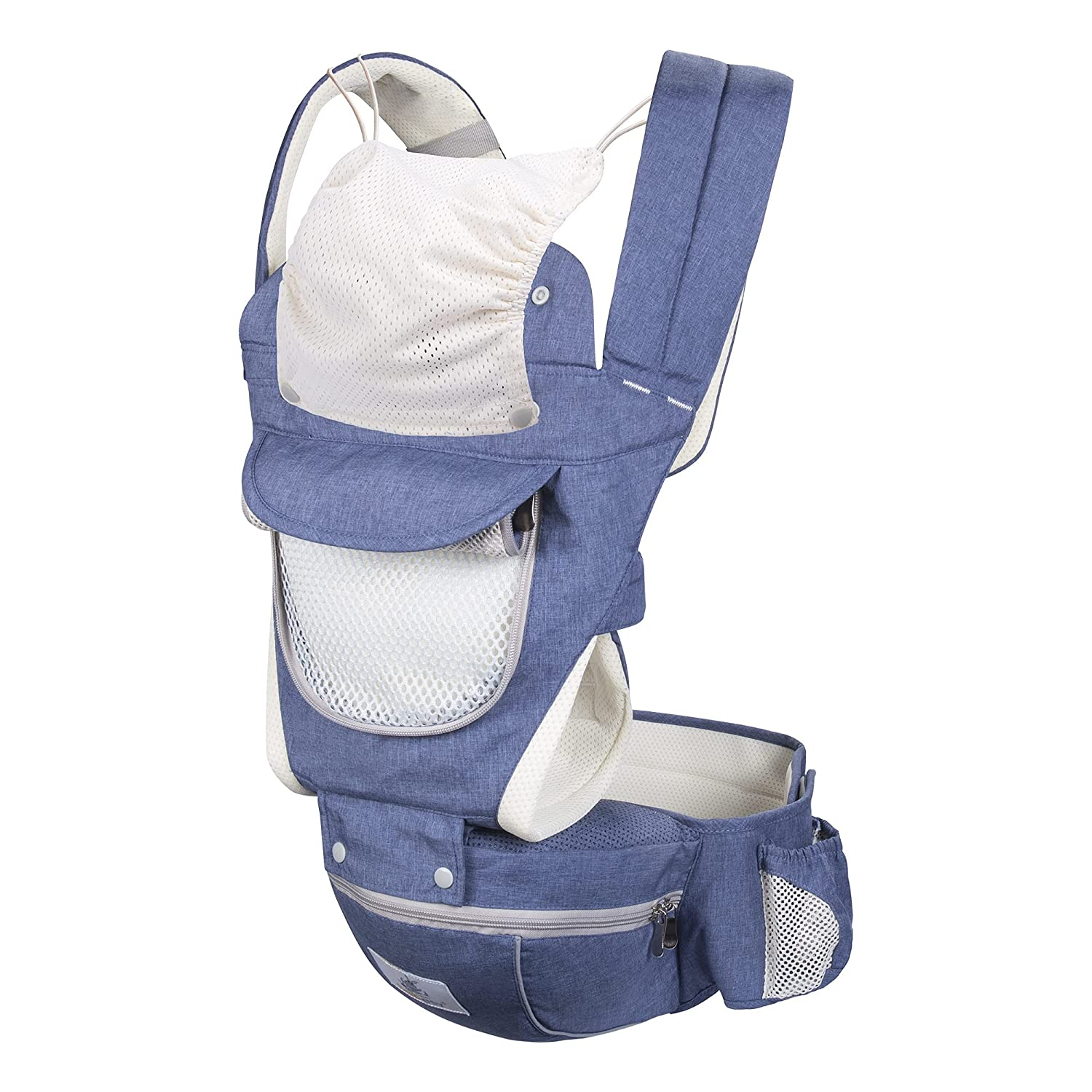 Agudan Baby Carrier, 6-in-1 Adjustable Ergonomic Waist Stool, Suitable for Newborns and Toddlers 0-36 Months