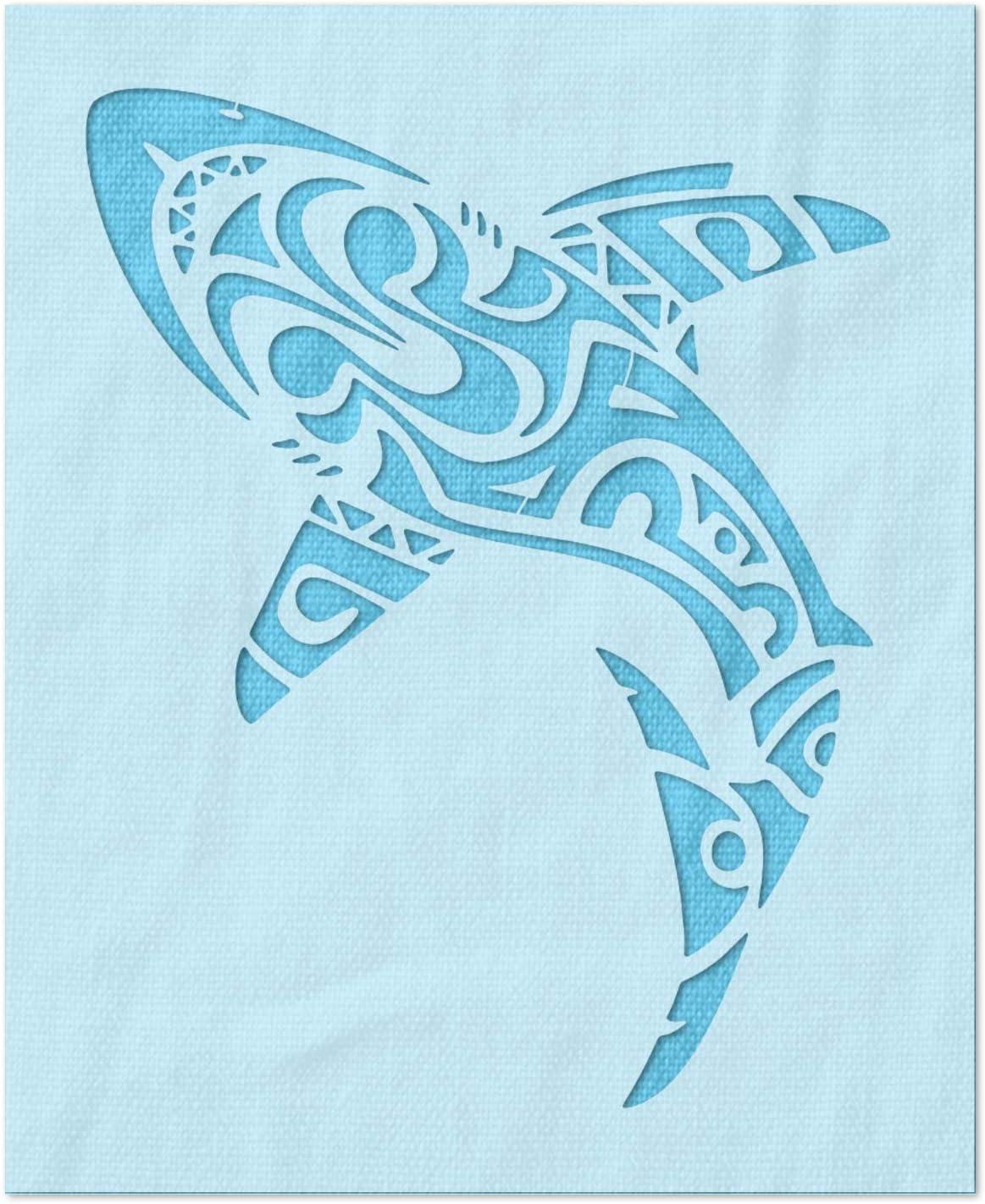 Stencil Stop Polynesian Houston Mall Baltimore Mall Shark - Project for Reusable DIY
