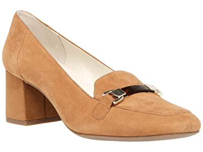 Anne Klein Evera Pump (Dark Sand Suede) Women