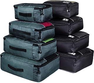 Packing Cubes, Idesort Travel Luggage Organizer Mixed Color Set(Grey/Black)