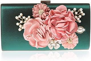 Women Flower Beaded Embroidery Evening Bags Handbags Wedding Party Clutch Purse