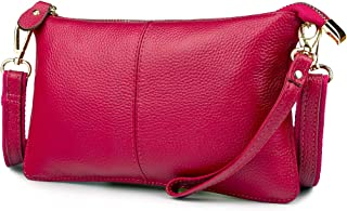 983d488ecda1 Artwell Women Genuine Leather Clutch Handbag Crossbody Shoulder Wristlet  Purse for Party Wedding Shopping
