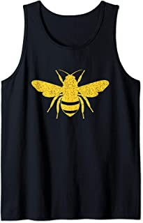 Bee Silhouette - Sweet Insect Gift For Honeybee Lovers Tank Top