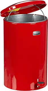 Rubbermaid Commercial Defenders Front Step-On Trash Can, 3-1/2 Gallon, Red