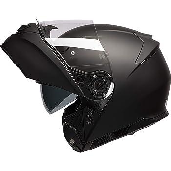 HAX Helmets -Casco Abatible, Serie Raptor, Modelo Black Matte Extra Extra Grande