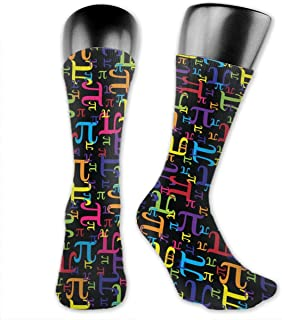 Luxury Calcetines de Deporte Pieces Of Pi Pattern Socks For Men Or Women, All-Season Lightweight Mid Calf Crew Socks