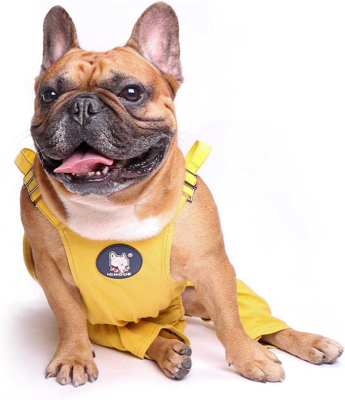 Amazon.com : ICHOUE Female Dog Suspenders Pajamas with Diapers ...