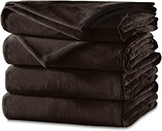 Sunbeam Heated Blanket | Velvet Plush, 10 Heat Settings, Walnut, King - BSV9GKS-R470-12A44