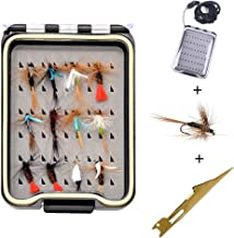 12 pcs Fly Fishing Flies Kit withTackle Box for Trout Fishing Dry Wet Flies Assortment Ideal for Bass Trout Panfish Tenkara