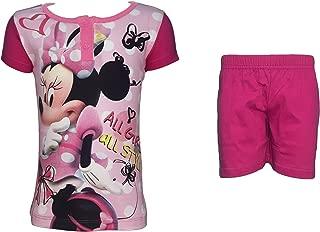 Disney Completo Bimba Corto Mezza Manica Puro Cotone Minnie topolina Art WD93-220