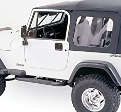 RAMPAGE PRODUCTS 68035 Complete Top Frame & Hardware for 1976-1995 Jeep Wrangler & CJ7, with Full Steel Doors, Black Diamond w/Tinted Windows
