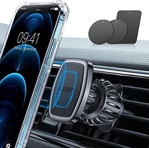 2021 LISEN Car Phone Holder Mount, [Upgraded Clip] 2021 Magnetic Phone Car Mount [6 Strong Magnets] Cell Phone Holder online sale for Car [Case Friendly] iPhone Car Holder Compatible with All Smartphones & Tablets outlet online sale