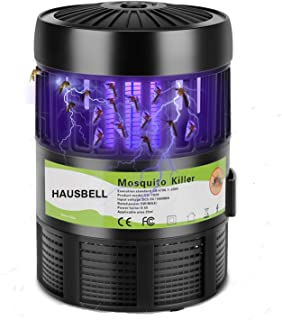 HAUSBELL Mosquito Killer Lamp, Electric Bug Zapper, Mosquito Fly Trap, Bug Control Inhaler, UV LED Insects Bee Zapper, USB Powered (Black-1Pack)