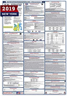2019 New York Labor Law Posters (Laminated) All-in-One State and Federal Approved, OSHA Compliant Vertical 27
