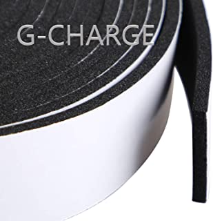 G-CHARGE Single Side High Density Self Adhesive Foam Seal Tape, Weather Stripping Doors and Window Insulation Soundproofing, (24mm x 6mm x 5 meter)