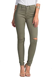 Vibrant Slit Knee High Waisted Solid Jeans