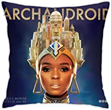 DamaYong Janelle Monae The ArchAndroid Pillowcase Decorative Soft Square Throw Pillow Cushion Covers Office Pillowcase Dec...