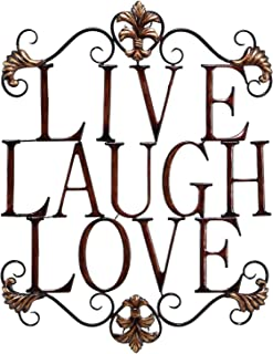 Live Laugh Love Modern Abstract Metal Wall Art Home Decor Decoration 28