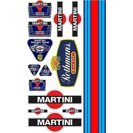 10 Aufkleber Sponsor Martini Racing Abziehbild Prespaced Auto Tuning Lancia Auto