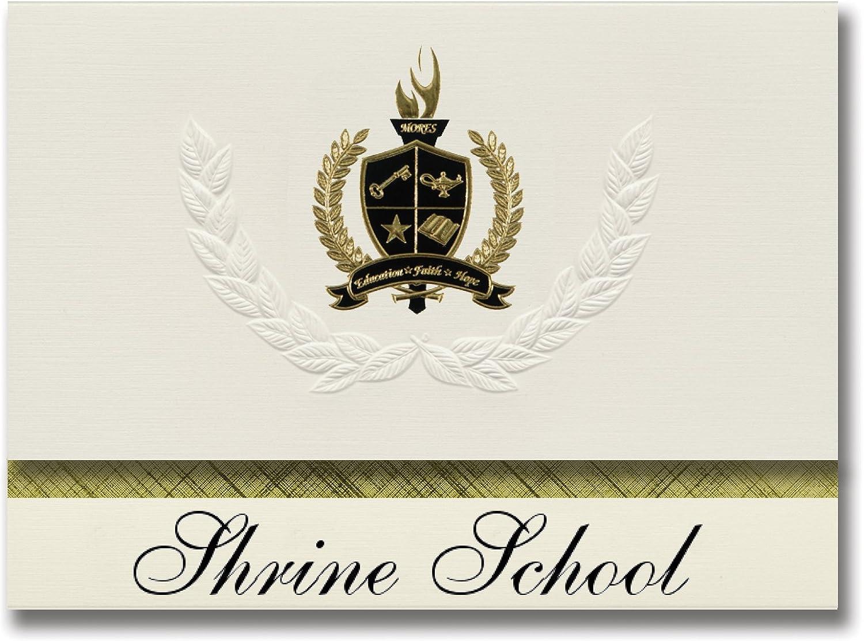 Signature Ankündigungen Schrein Schule (Memphis, TN) TN) TN) Graduation Ankündigungen, Presidential Stil, Elite Paket 25 Stück mit Gold & Schwarz Metallic Folie Dichtung B078VDRTCZ   | Umweltfreundlich  57c7f3