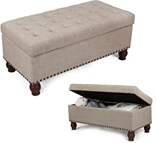 Decent Home Storage Ottoman Bench for Ling Room Bedroom, Large Space, Rectangular, 40