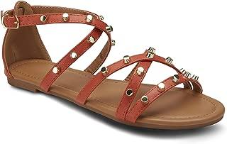 Olivia Miller Studded Cross Strap Sandal
