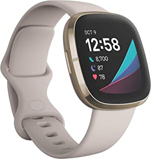 Fitbit Sense Advanced Health Watch with EDA and Stress Management tools, Temperature Tracking and Heart Health Insights – ...