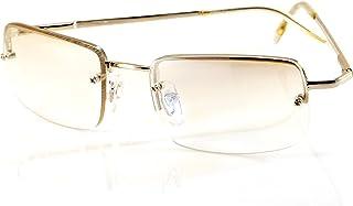 FBL Minimalist Small Rectangular Sunglasses Clear Eyewear Spring Hinge A124 A125