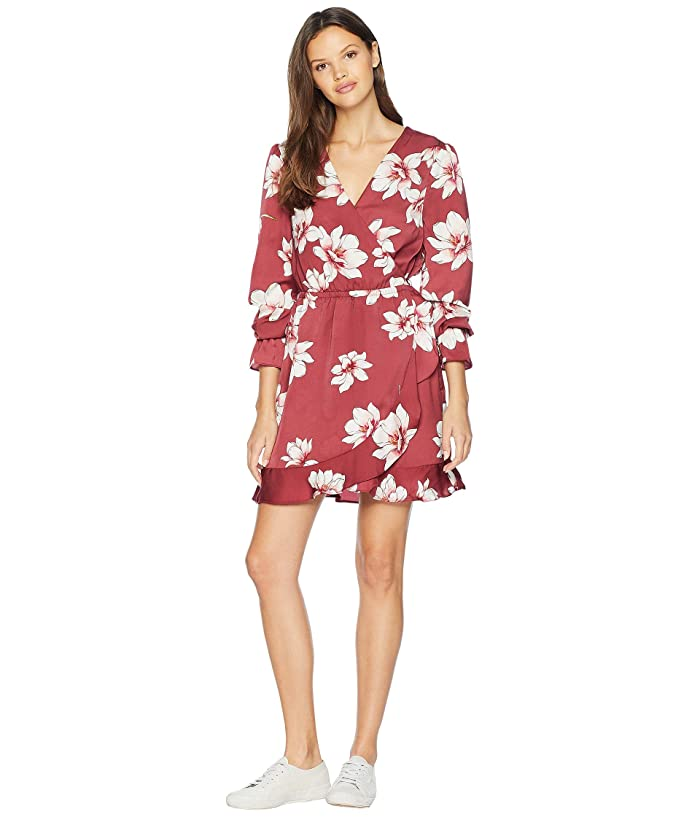 Cupcakes and Cashmere Jarrett Printed Wrap Dress (Earth Red) Women