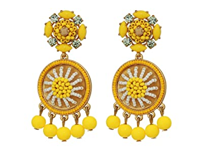 J.Crew Citron Beaded Drop Earrings (Brilliant Citron) Earring