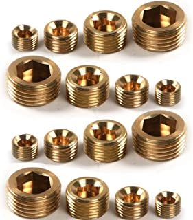 ALLPEN 20pcs Brass Pipe Fitting,1/8