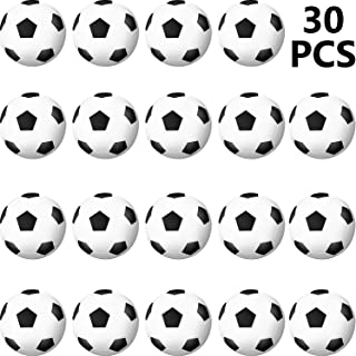 Sports Stress Ball, Mini Foam Squeeze Sports Ball, Foam Squeeze Sports Ball for School Carnival Reward, Party Bag Gift Fillers (Soccer Ball, 30 Packs)