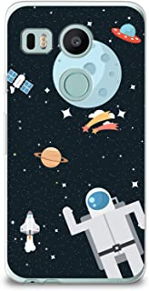 CasesByLorraine Nexus 5X Case, Cute Astronaut Planet Space Case Flexible TPU Soft Gel Protective Cover for LG Google Nexus 5X (P91)