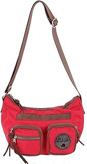 Bolso de tela para mujer rojo Geranium