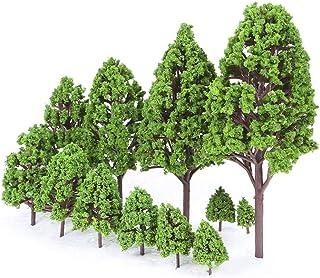 33pcs Mini Plastic Green Trees Scale Architectural Models Train Railways Landscape Scenery Layout Garden Decoration Tree Toys