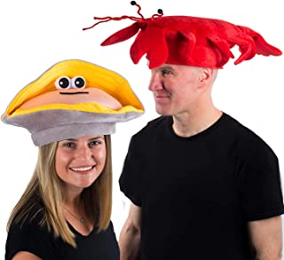 Lobster Hat - Clam Hat - Under The Sea Hats - Fish Hats - Novelty Hats - Costume Hats - 2 Pack