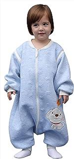 Bebé Mono Saco de Dormir con Pies Infantil Invierno Niño Niña Mameluco Algodón con Manga Larga Recién Nacidos Ropa de Dormir Pijama con Piernas Separados - 6-36 Meses